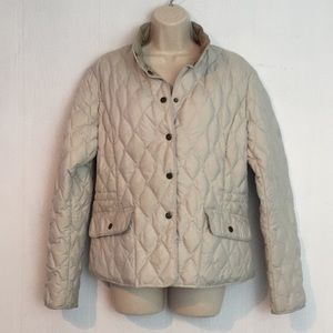 Eddie Bauer Goose Down Quilted Jacket Sz Large